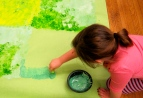 First Grade Rainforest Mural