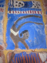Close-up of fresco