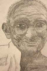 Portrait of Gandhi by a Sixth Grader