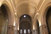 Interior of Romanesque chapel at St. Paul de Mausole