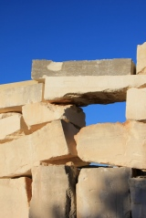 Limestone blocks in Menerbe, France