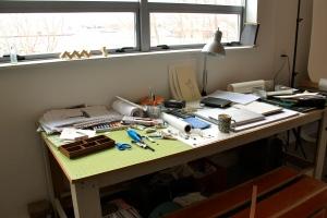 Steel House: artist's studio space